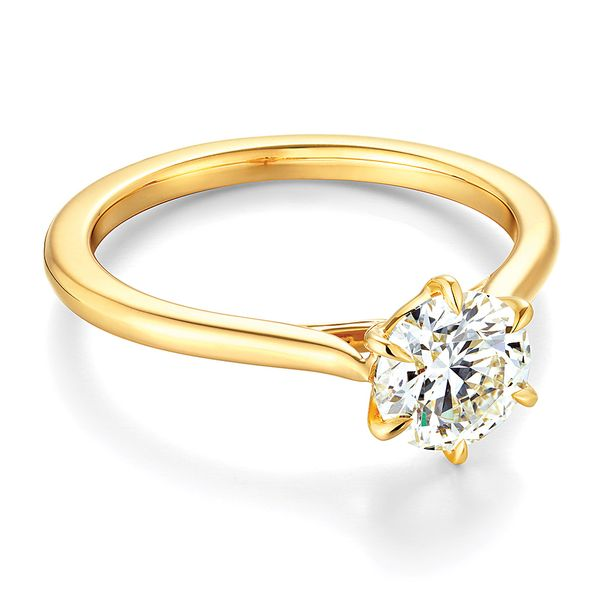 Hearts On Fire Camilla Yellow Gold Engagement Ring Setting Image 2 Bremer Jewelry Peoria, IL