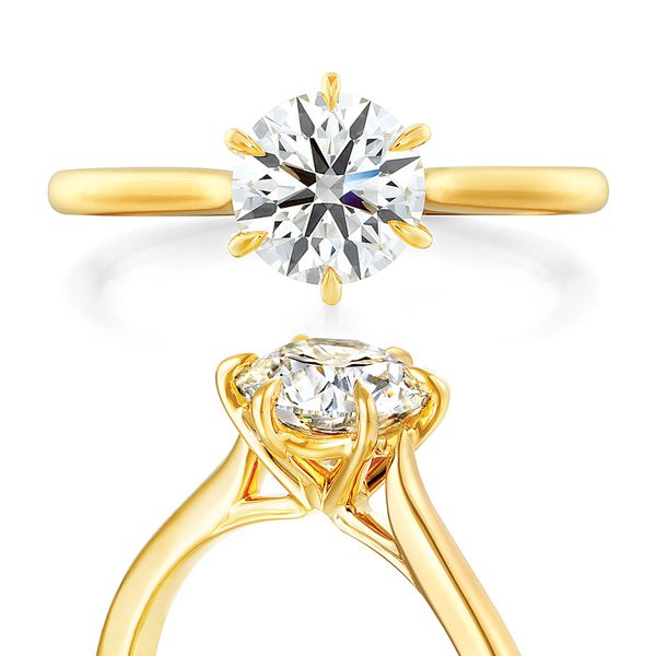 Hearts On Fire Camilla Yellow Gold Engagement Ring Setting Image 4 Bremer Jewelry Peoria, IL