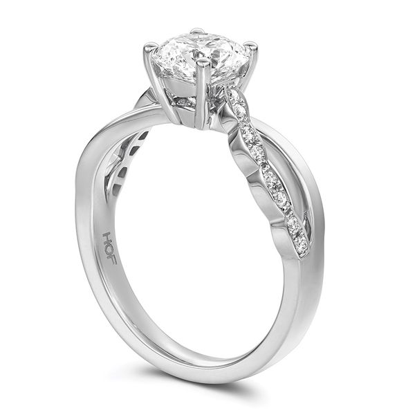 Hearts On Fire Lorelei Floral White Gold Diamond Engagement Ring Setting Image 3 Bremer Jewelry Peoria, IL