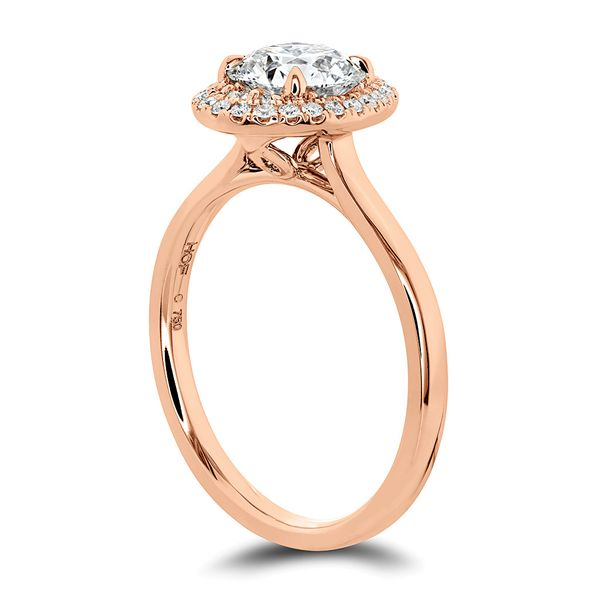 Hearts On Fire Juliette Rose Gold Diamond Engagement Ring Setting Image 3 Bremer Jewelry Peoria, IL