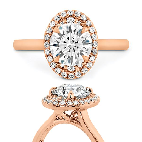 Hearts On Fire Juliette Rose Gold Diamond Engagement Ring Setting Image 4 Bremer Jewelry Peoria, IL