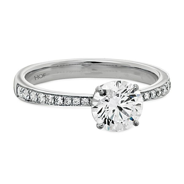 Hearts On Fire Signature Diamond Engagement Ring in White Gold Image 2 Bremer Jewelry Peoria, IL