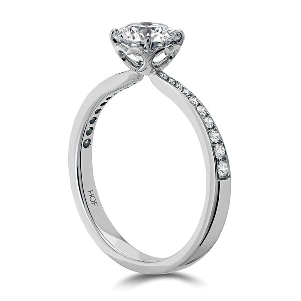 Hearts On Fire Signature Diamond Engagement Ring in White Gold Image 3 Bremer Jewelry Peoria, IL