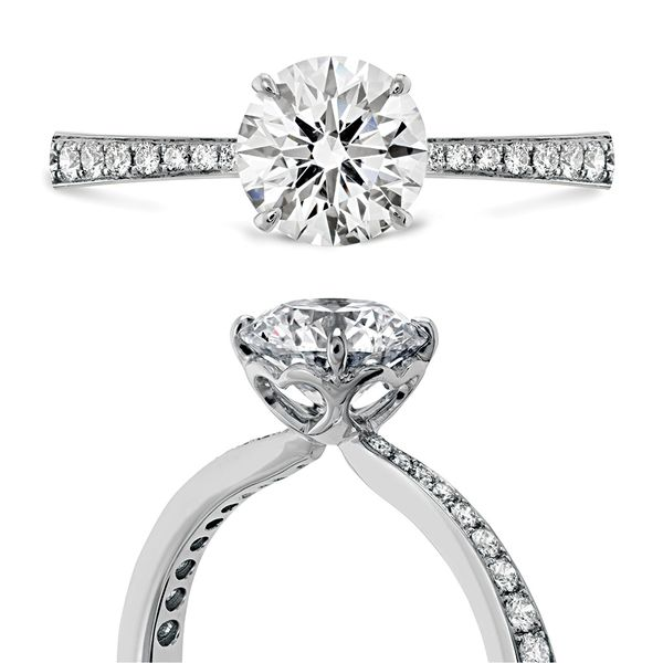 Hearts On Fire Signature Diamond Engagement Ring in White Gold Image 4 Bremer Jewelry Peoria, IL