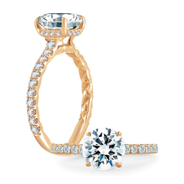 A. Jaffe Engagement Ring Setting in Rose Gold Bremer Jewelry Peoria, IL