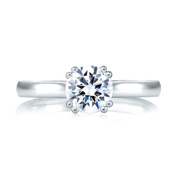 A.JAFFE Classics 14k White Gold Engagement Ring Setting Bremer Jewelry Peoria, IL