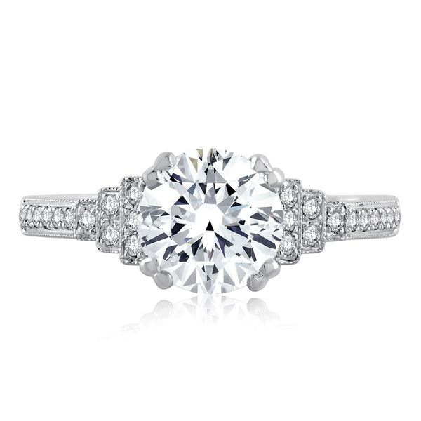 A. Jaffe Engagement Ring Setting in White Gold Bremer Jewelry Peoria, IL