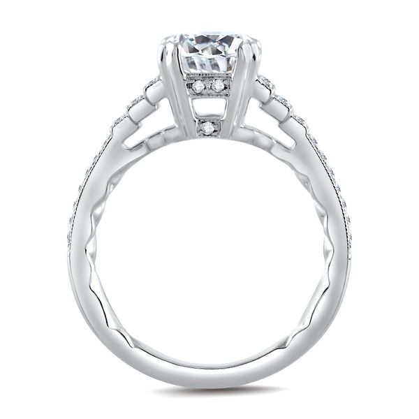 A. Jaffe Engagement Ring Setting in White Gold Image 2 Bremer Jewelry Peoria, IL