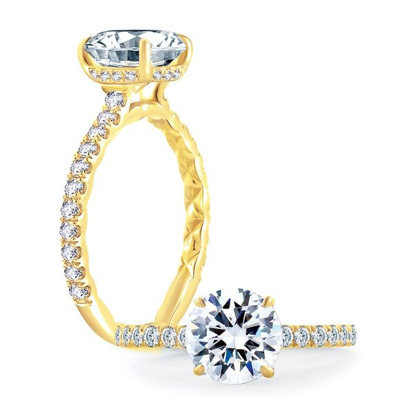 A. Jaffe Engagement Ring Setting in Yellow Gold Bremer Jewelry Peoria, IL