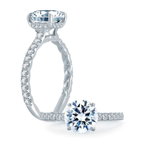 A. Jaffe Engagement Ring Setting in Platinum Bremer Jewelry Peoria, IL