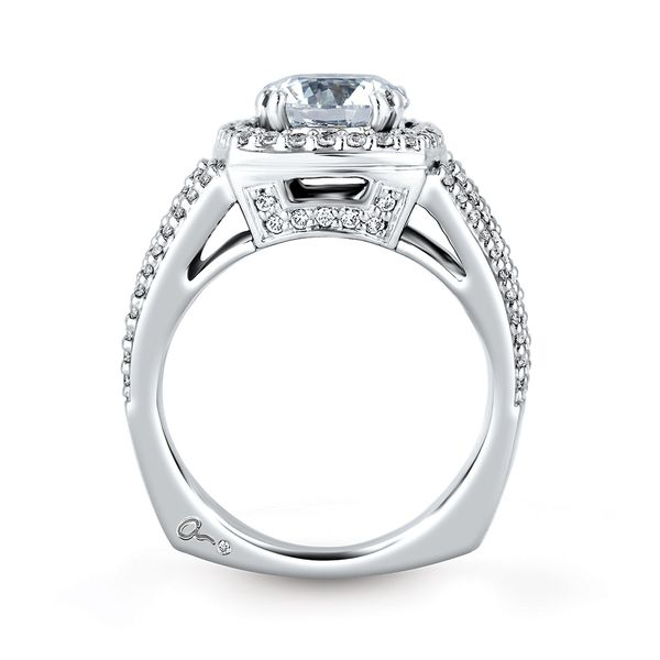 A.JAFFE Metropolitan 14k White Gold Diamond Engagement Ring Setting Image 3 Bremer Jewelry Peoria, IL