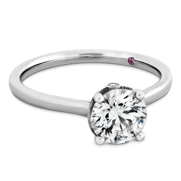 Hayley Paige by HOF Sloane Silhouette Engagement Ring in White Gold Image 2 Bremer Jewelry Peoria, IL