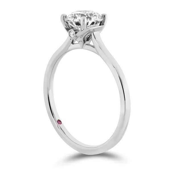 Hayley Paige by HOF Sloane Silhouette Engagement Ring in White Gold Image 3 Bremer Jewelry Peoria, IL