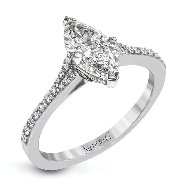 Simon G. Marquise Diamond Engagement Ring Setting in Platinum Bremer Jewelry Peoria, IL