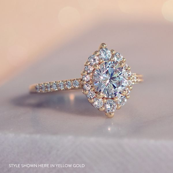 Oval Halo Diamond Engagement Ring Setting In Rose Gold Bremer Jewelry Peoria Il