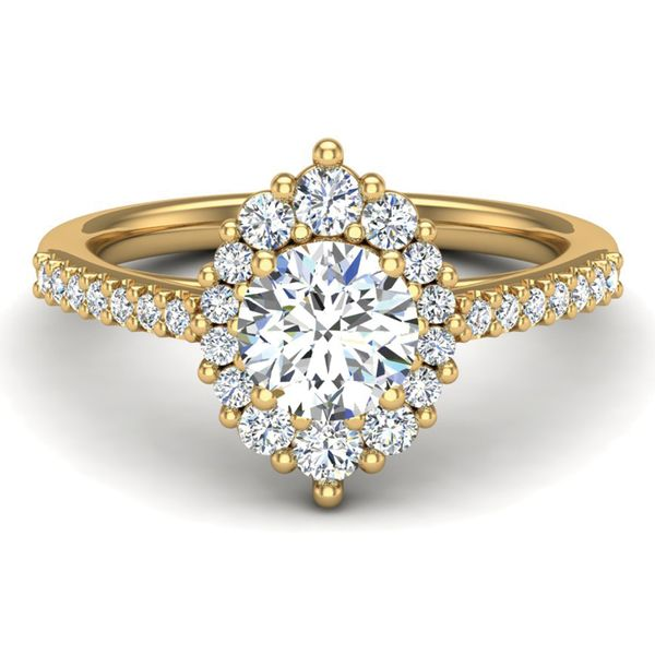 Oval Halo Diamond Engagement Ring Setting in Yellow Gold Bremer Jewelry Peoria, IL
