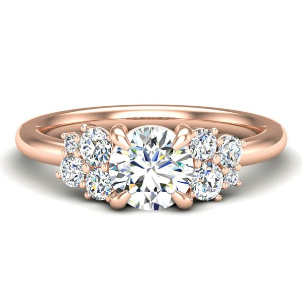 Diamond Clusters Engagement Ring Setting in Rose Gold Bremer Jewelry Peoria, IL