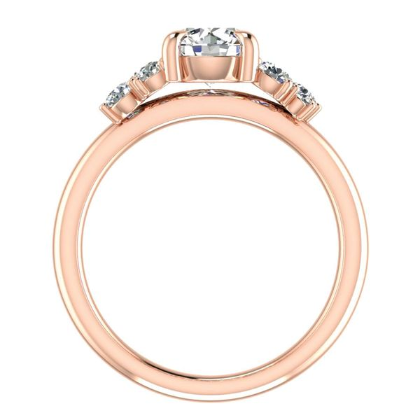 Diamond Clusters Engagement Ring Setting in Rose Gold Image 4 Bremer Jewelry Peoria, IL