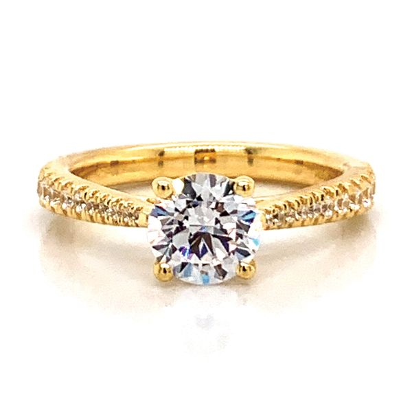 Round Diamond Engagement Ring Setting in Yellow Gold Bremer Jewelry Peoria, IL
