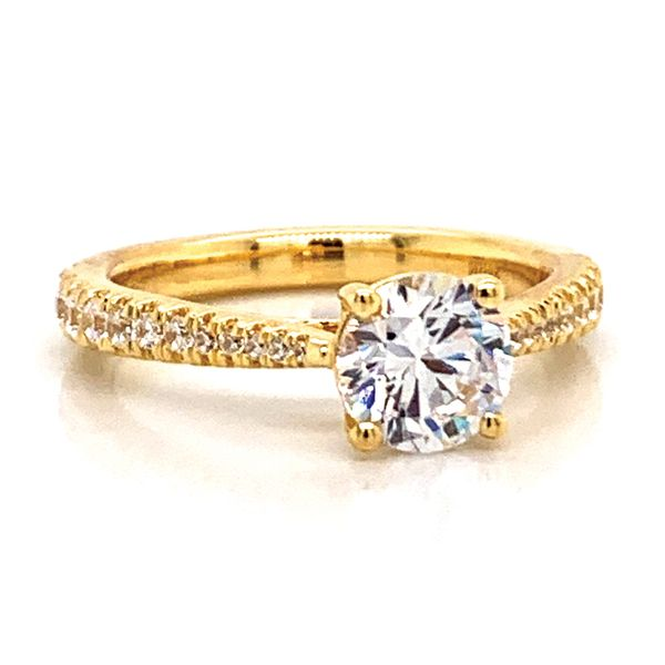 Round Diamond Engagement Ring Setting in Yellow Gold Image 2 Bremer Jewelry Peoria, IL