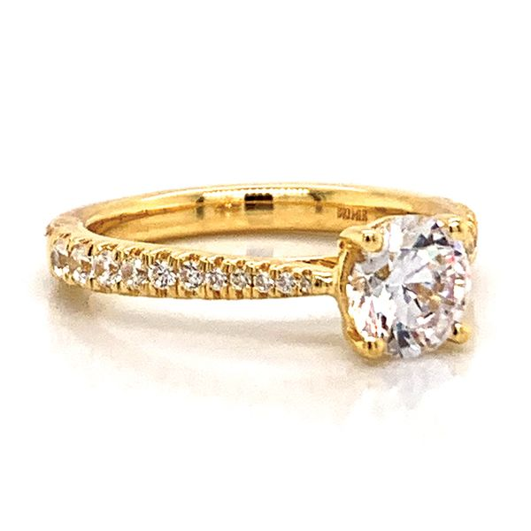 Round Diamond Engagement Ring Setting in Yellow Gold Image 3 Bremer Jewelry Peoria, IL
