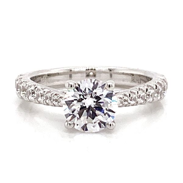 Round Diamond Engagement Ring Setting in White Gold Bremer Jewelry Peoria, IL