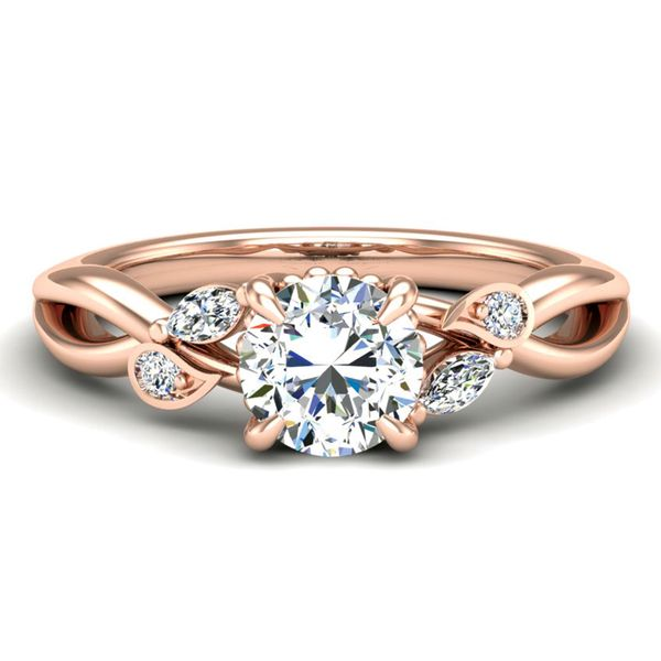 Woven Vines Diamond Engagement Ring Setting in Rose Gold Bremer Jewelry Peoria, IL