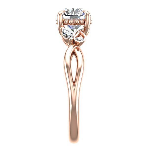 Woven Vines Diamond Engagement Ring Setting in Rose Gold Image 3 Bremer Jewelry Peoria, IL