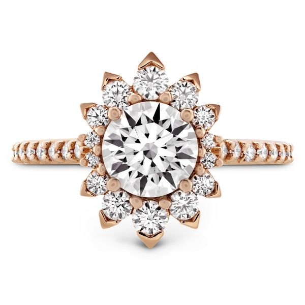 Hayley Paige by HOF Behati Engagement Ring Setting in Rose Gold Bremer Jewelry Peoria, IL