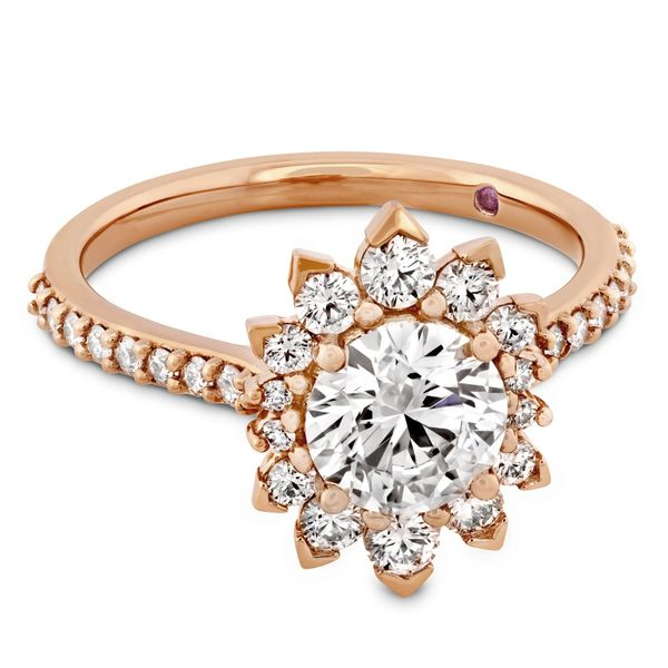 Hayley Paige by HOF Behati Engagement Ring Setting in Rose Gold Image 2 Bremer Jewelry Peoria, IL