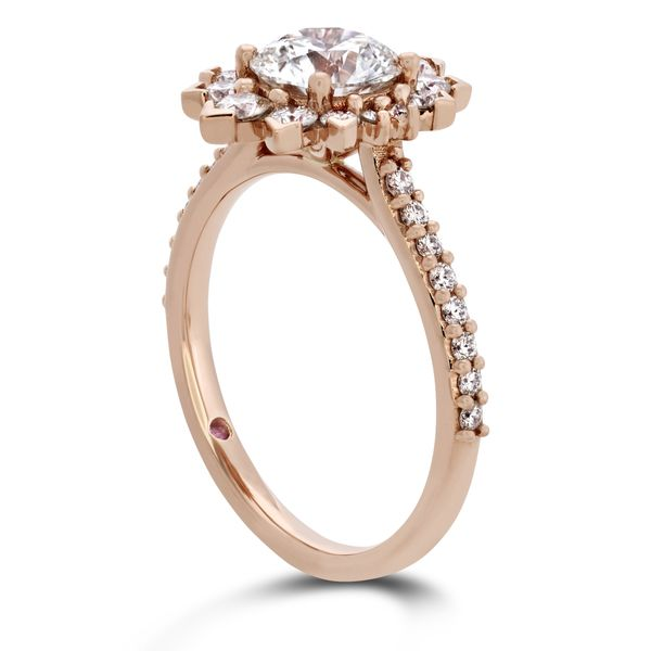 Hayley Paige by HOF Behati Engagement Ring Setting in Rose Gold Image 3 Bremer Jewelry Peoria, IL