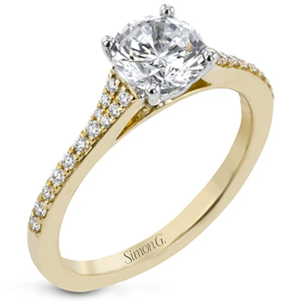 Simon G. Diamond Engagement Ring Setting in Yellow Gold Bremer Jewelry Peoria, IL