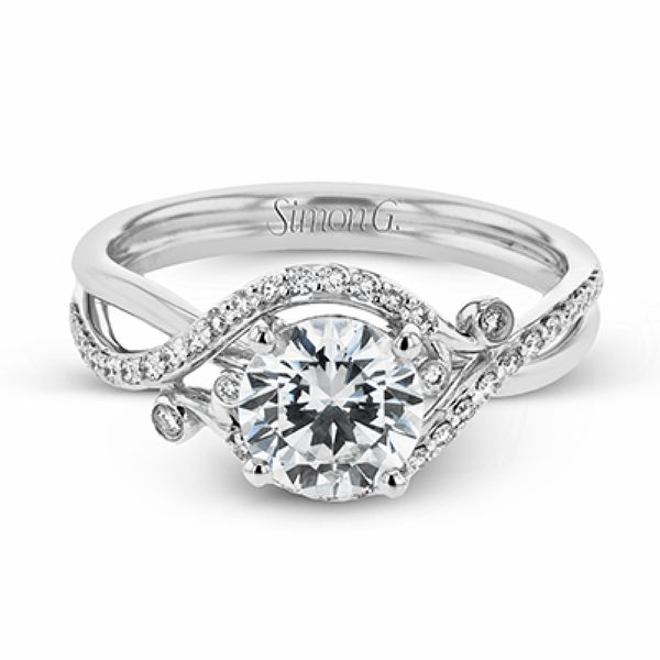 Simon G. Vintage Diamond Engagement Ring in White Gold Bremer Jewelry Peoria, IL