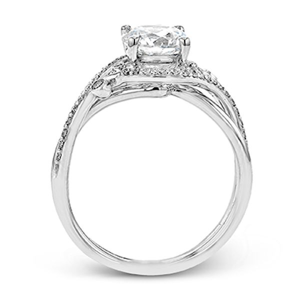 Simon G. Vintage Diamond Engagement Ring in White Gold Image 2 Bremer Jewelry Peoria, IL