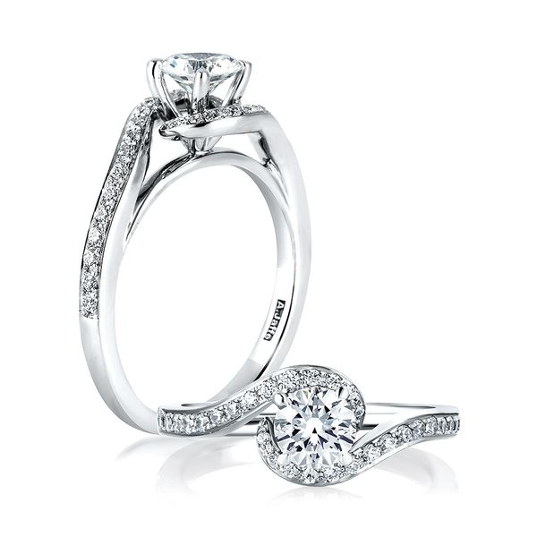 A. Jaffe Metropolitan Diamond Engagement Ring Setting in White Gold Bremer Jewelry Peoria, IL