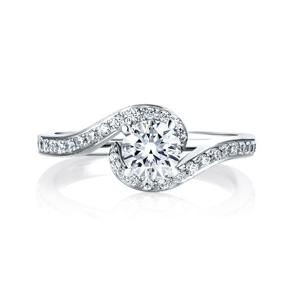 A. Jaffe Metropolitan Diamond Engagement Ring Setting in White Gold Image 2 Bremer Jewelry Peoria, IL