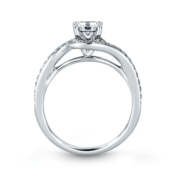 A. Jaffe Metropolitan Diamond Engagement Ring Setting in White Gold Image 3 Bremer Jewelry Peoria, IL