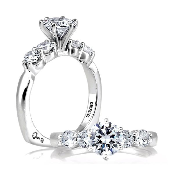 A. Jaffe Classics Diamond Engagement Ring Setting in White Gold Bremer Jewelry Peoria, IL