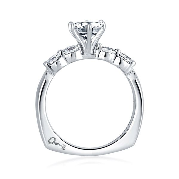 A. Jaffe Classics Diamond Engagement Ring Setting in White Gold Image 3 Bremer Jewelry Peoria, IL