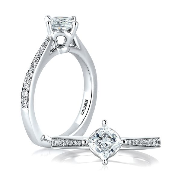 A. Jaffe Seasons of Love Diamond Engagement Ring Setting in White Gold Bremer Jewelry Peoria, IL