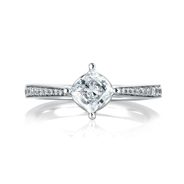 A. Jaffe Seasons of Love Diamond Engagement Ring Setting in White Gold Image 2 Bremer Jewelry Peoria, IL