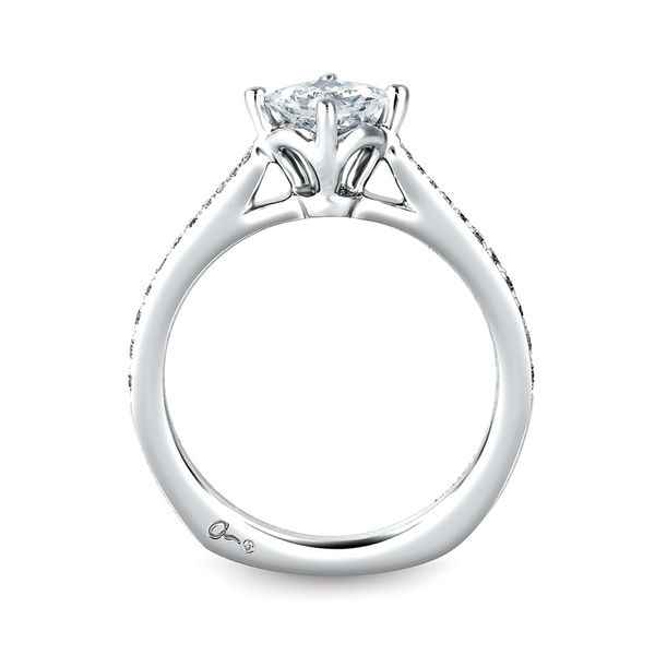 A. Jaffe Seasons of Love Diamond Engagement Ring Setting in White Gold Image 3 Bremer Jewelry Peoria, IL
