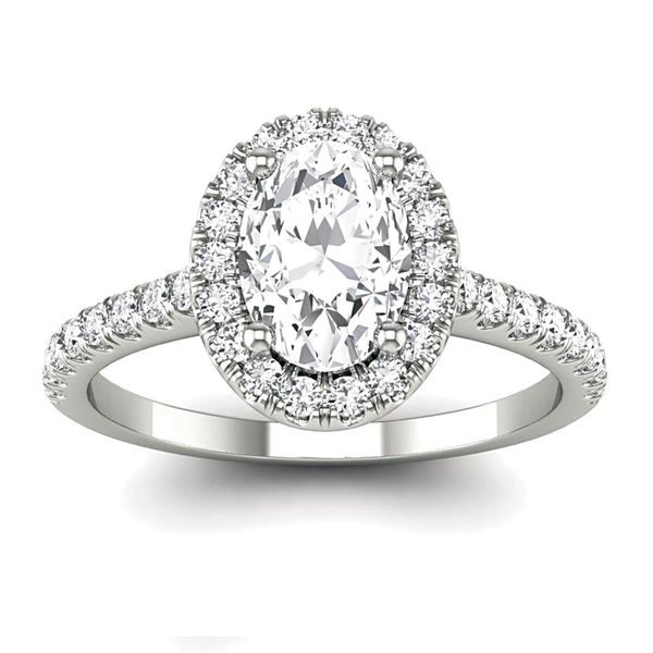 Oval Diamond Engagement Ring Setting in White Gold Bremer Jewelry Peoria, IL