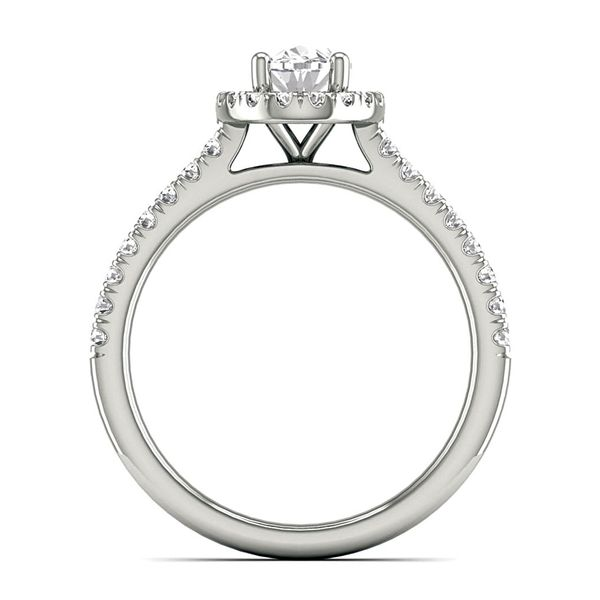Oval Diamond Engagement Ring Setting in White Gold Image 3 Bremer Jewelry Peoria, IL