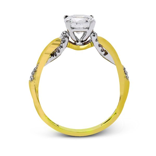 Simon G. Diamond Engagement Ring Setting in Yellow and White Gold Image 3 Bremer Jewelry Peoria, IL