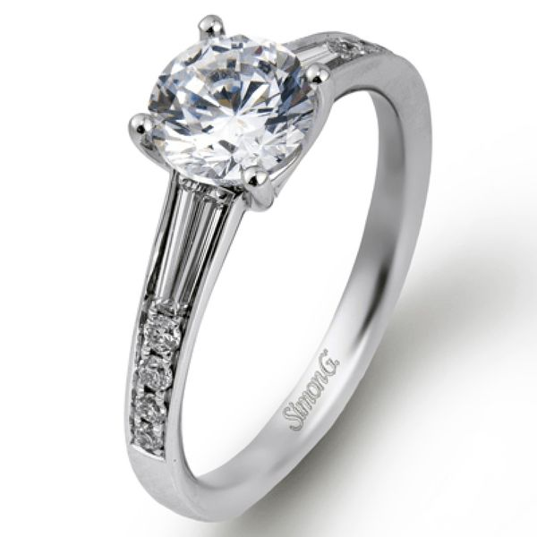 Simon G. Diamond Engagement Ring Setting in White Gold Bremer Jewelry Peoria, IL
