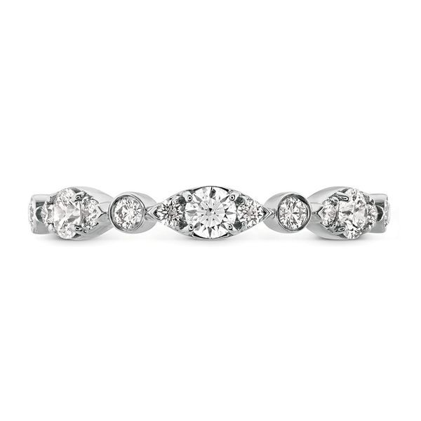 Hearts On Fire Bezel Regal Diamond Wedding Ring in White Gold Bremer Jewelry Peoria, IL