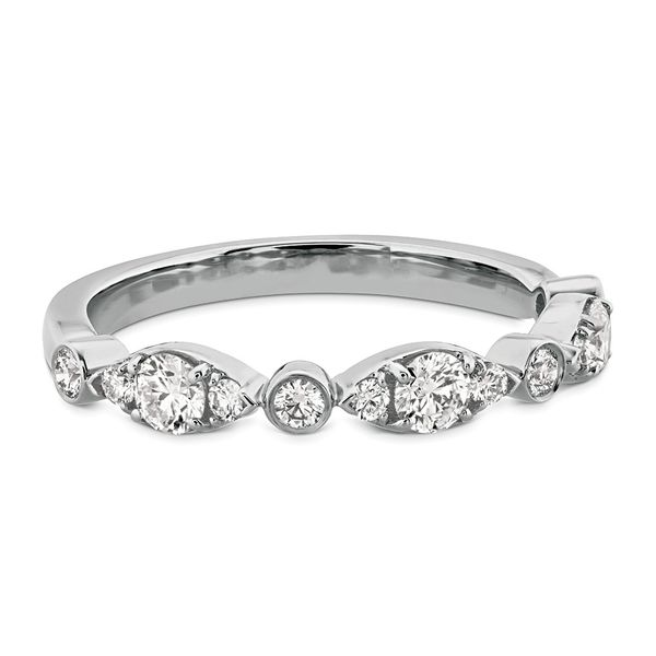 Hearts On Fire Bezel Regal Diamond Wedding Ring in White Gold Image 2 Bremer Jewelry Peoria, IL
