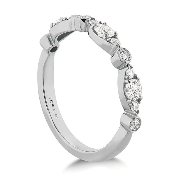 Hearts On Fire Bezel Regal Diamond Wedding Ring in White Gold Image 3 Bremer Jewelry Peoria, IL