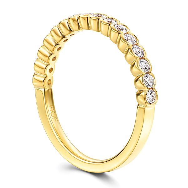 Hearts On Fire Isabelle Yellow Gold Diamond Wedding Band Image 3 Bremer Jewelry Peoria, IL
